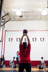Mary does Workout of the Day at CFHK. Photo Credit: Annabel Clark for The Wall Street Journal